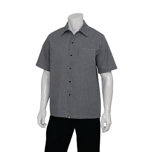Chef Works Black and White Check Cook Shirt M